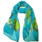 18色★豊富なカラーバリエーション♪格安100%シフォンシルクロング蝶柄スカーフ  0693