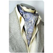 エレガント袋縫いメンズ用100%シルクスカーフペイズリー柄  全2色 1009